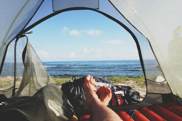 ソロキャンプ冬荷物